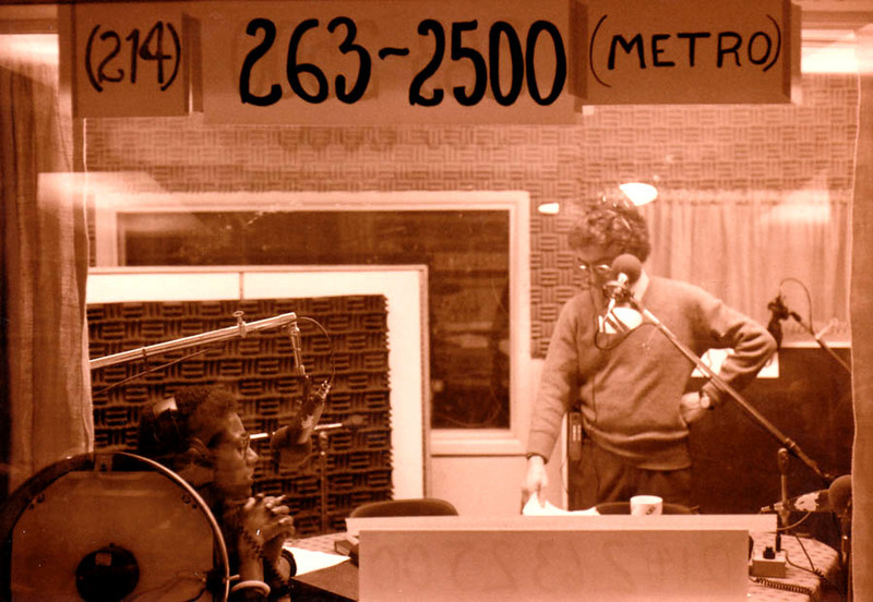 KERA 90.1FM RADIO STUDIO<br /> This is Darlene and Mike waiting to go on air during one of the 90FM pledge drives. I started my volunteering here at the radio studio answering phones.