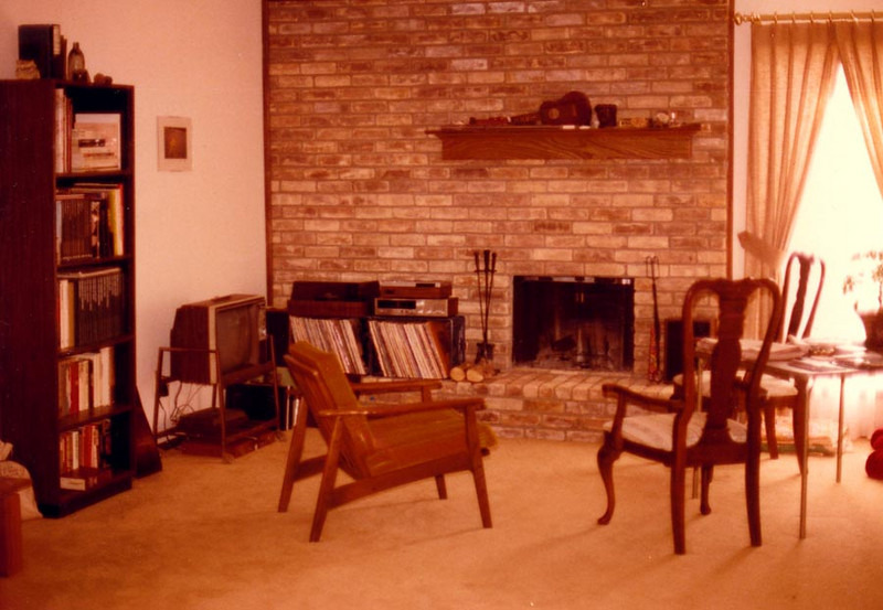 EULESS CONDO<br /> This was the living room of the condo in Euless I moved into with my friend, Doy, after my wife and I separated for the last time before we got a divorce. It was really a pretty nice place, especially with a fireplace to gaze into in times of need. All the furniture on the left is mine.