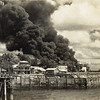 Stokes Wharf oil tanks hit, the first hit of the Darwin bombing