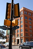 The old Texas School Book Depository from the corner where the limo passed just before the shooting.