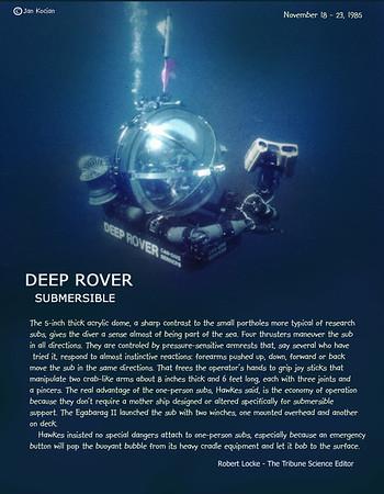 Deep Rover submersible 1985