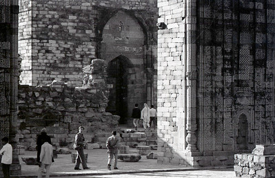 Wandering the ruins at the Qutub Minar complex, 1968.