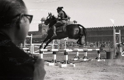 Show jumping, Red Fort, 1967.