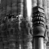 I took half a roll of pictures that day and this is the only photo that shows the famous 12th century AD tower called Qutub Minar. In the foreground is the Iron Pillar of Delhi which has withstood corrosion for more than 1,600 years.