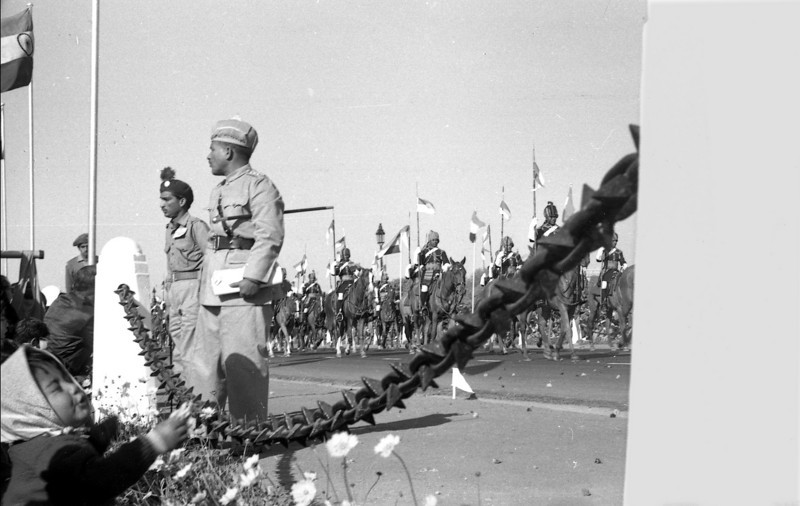 Kid's eye view, Republic Day parade, 1964.
