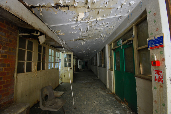Straight away,the decay hits you,,this is Spine corridor that leads to the Activity Centre