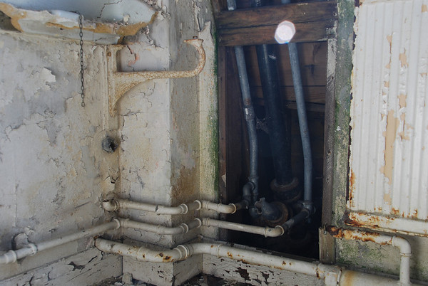 The only pipework not stripped as its worth very little
