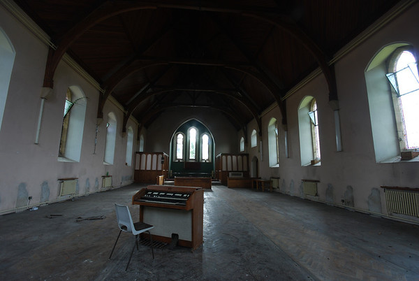 All the pews have been removed and probably sold