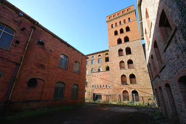 The central part of the mill has partly been gutted prior to redevelopment.