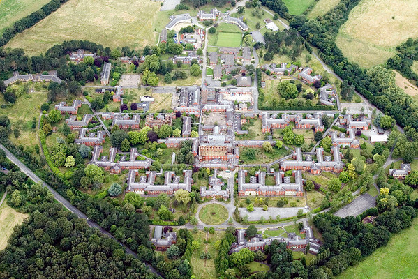 West park Asylum, Epsom, Surrey. Seen from the air on 17-08-08.
