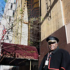 "Record-Eagle/Loraine Anderson<br /> Concierge Christopher Roddy greets visitors to the Guardian Building in his 1920s era doorman ""regalia"" on weekdays.  He also gives free tours of the building from 10 to noon filled with details about the skyscrapers art-deco architecture and construction."