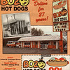 "BOZO HOT DOGS - DOLTON, IL - 1994<br /> Originally ""Bozo,"" but legal action from the clown of same name required them to change. They just put a round face instead of the ""O."""