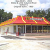 MC DONALD'S - DOLTON, IL - Originally built around 1961 and only the second McDonald's at the time in IL.   Little Calumet river is behind the fence.