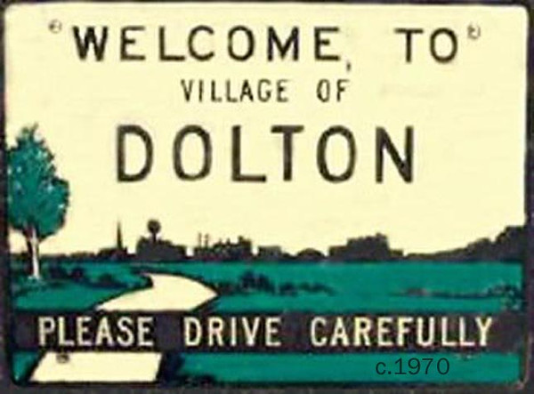 WELCOME TO DOLTON (IL) SIGN 1970<br /> via Bill Hill
