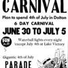 "DOLTON, IL JULY 4th CARNIVAL - 1959 Pointer news ad<br /> Clearly the main public event of the year for the area and a model for villages across the country.  Rides such as ""Tilt-a-Whirl"" and ""The Bullet"" thrilled all with a superb fireworks show on the 4th--above the norm for a small village."