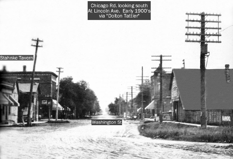 c.1900 - CHICAGO ROAD LOOKING SOUTH