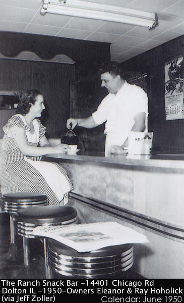 THE RANCH SNACK BAR - DOLTON, IL - 1950 - 8