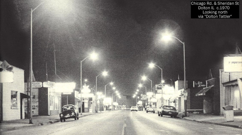 CHICAGO ROAD - DOLTON, IL - C.1970'S <br /> Looking north from Sheridan Ave