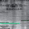 PARK AVENUE SCHOOL - DOLTON, IL -1910 DIPLOMA<br /> Now the Dolton Municipal Center