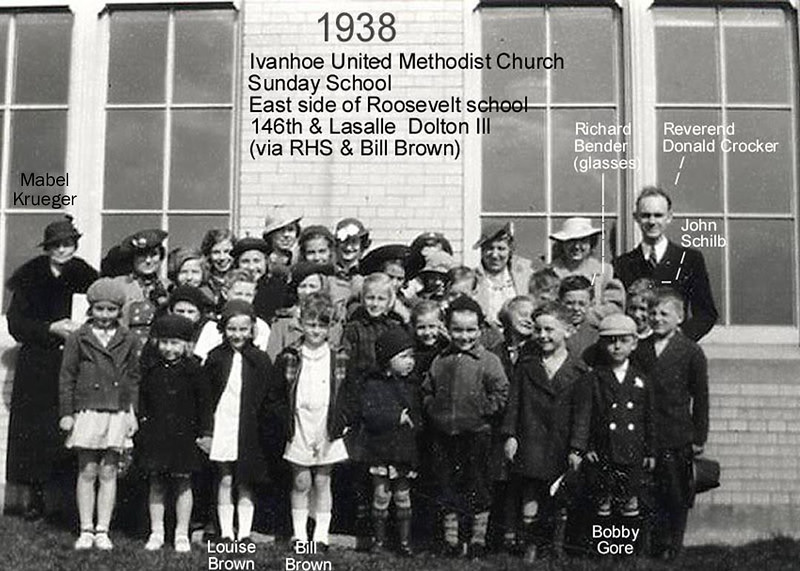 ROOSEVELT ELEMENTARY - DOLTON, IL  1938<br /> The school had only 4 classrooms at this time.