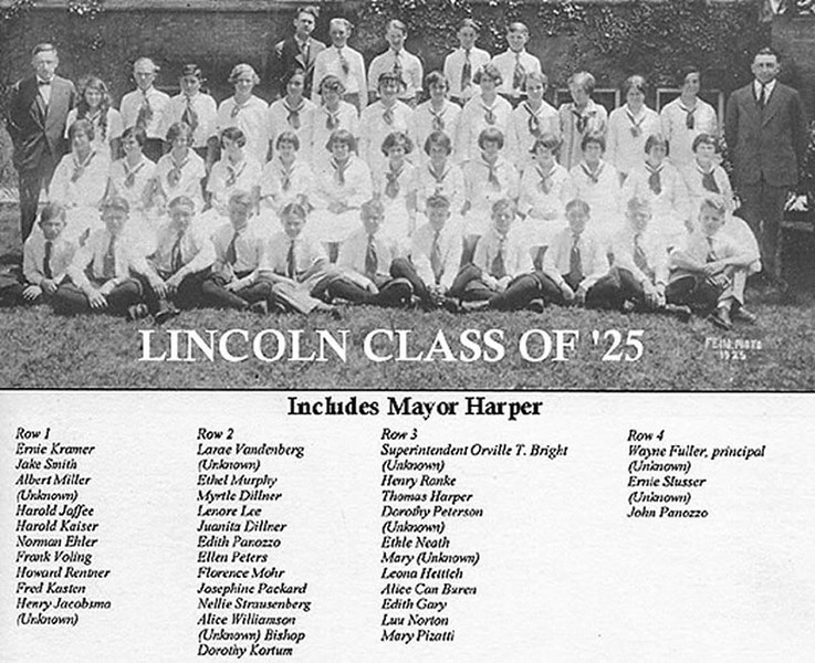 LINCOLN ELEMENTARY - DOLTON, IL - CLASS OF 1925