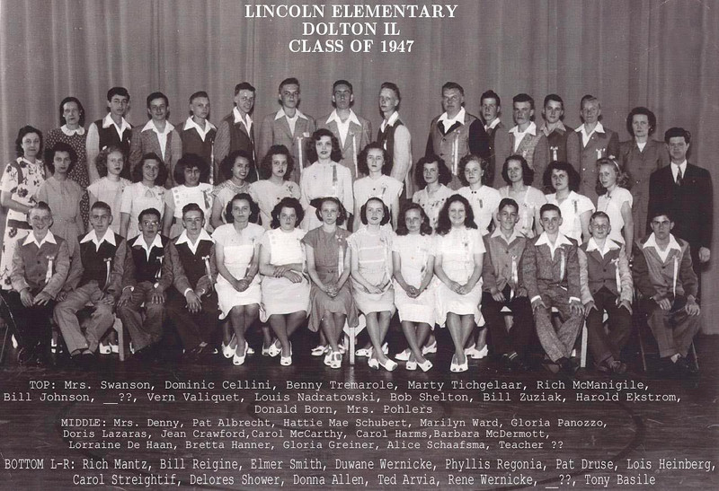 LINCOLN ELEMENTARY - DOLTON, IL - CLASS OF 1947