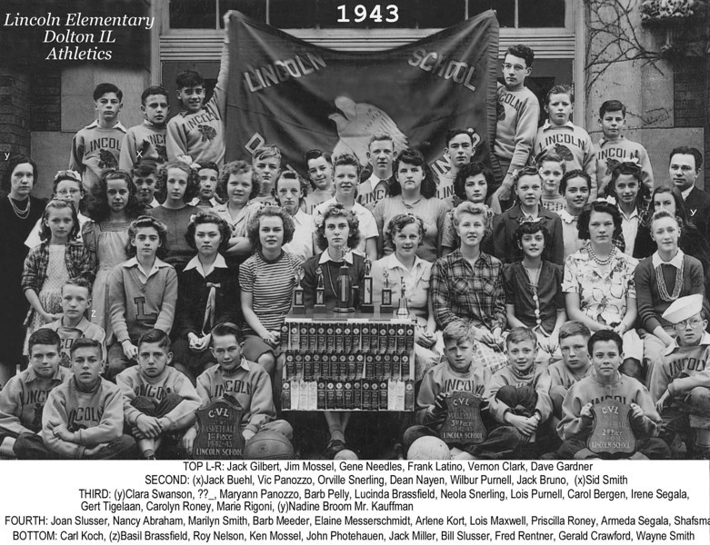 LINCOLN ELEMENTARY - DOLTON, IL - ATHLETICS 1943