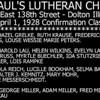 ST. PAUL LUTHERAN - DOLTON, IL - LIST FOR PREVIOUS