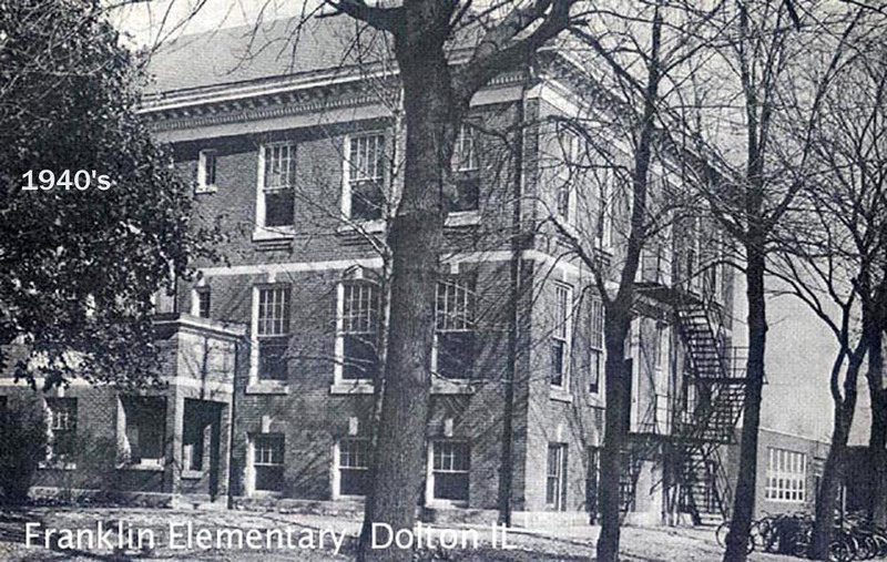 FRANKLIN ELEMENTARY - DOLTON, IL - 1940's<br /> About 146th & Chicago Road