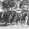 1897 Decoration Day  - Dolton, IL <br /> The memorial in the middle still stands today (2013).  Some of these veterans marched thousands of miles on foot during the Civil War!  (via Riverdale (IL) Historical Society)