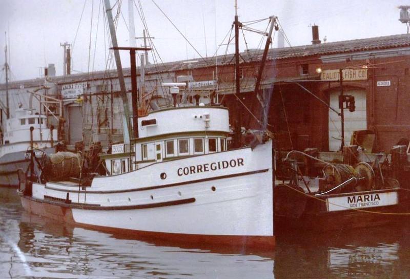 Corregidor  Built 1930 Tacoma Carl Lindwall   Maria Built 1937 Sausalito Joseph Riera  Pic Taken   Aliota Fish Co  San Francisco