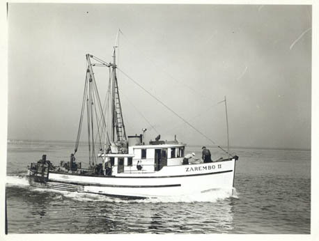 Zarembo_II,Built 1939 Seattle,Builder Olson and Sunde Marine Work,Pic Taken October_16_1944,Minor Lervold,William Charlton,Benny Chestnut,Gary Warren,