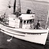 Valhalla II Built 1945 Columbia Boat Builder Matt Tolonen Owner on Bridge Veikko Romppanen On Bow 30 yrs with him Uno Winters Pic Taken Late 40's