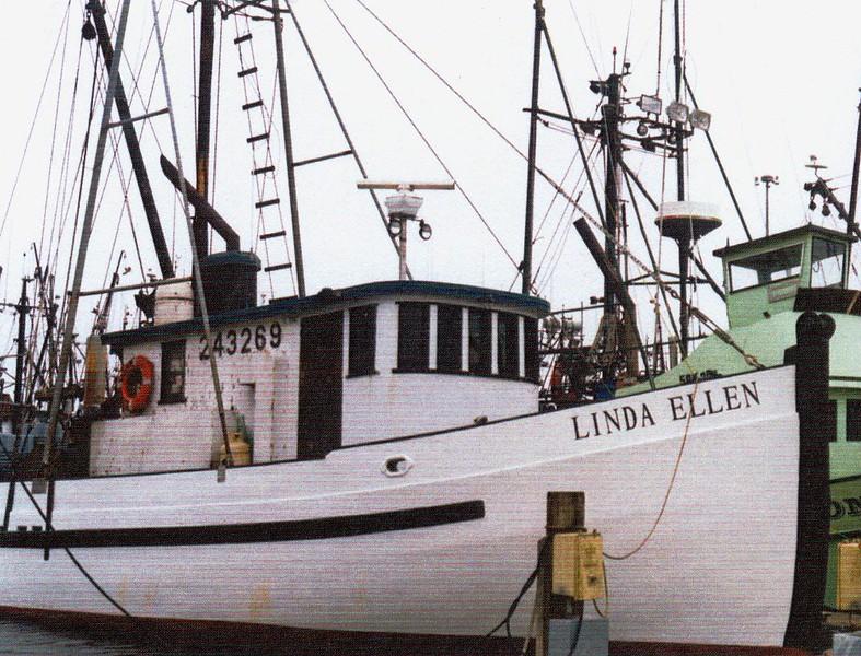 Linda Ellen  Ruth Ellen  Built 1943 Marshfield  Builder  Abe Elfving  Coos Bay Boat Shop   Owners  Hall Brothers  Later Sam Scott  Dale and Ed Cooper