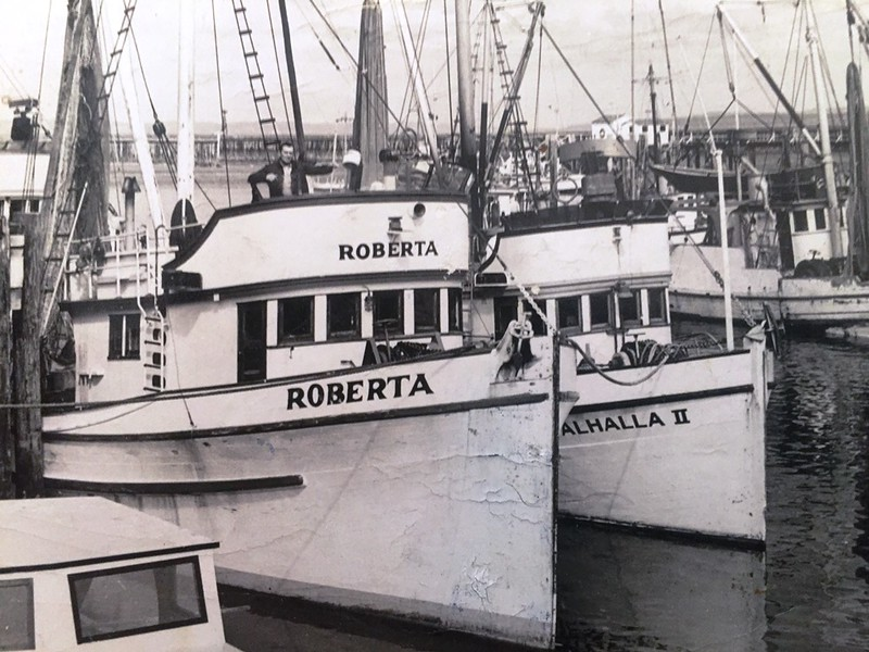 Roberta Built 1944 Seattle  Irving Stamnes  Ronald Schnell  Valhalla II Built 1945 Columbia Boat Astoria Builder Matt Tolonen Owner Veikko Romppanen Pic Taken late 50's  Roberta lost 1963 all saved