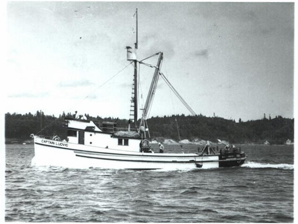 Captain Ludvig,Built 1945 Bay City Oregon  Builder Sessions  Owner  R E  Christensen