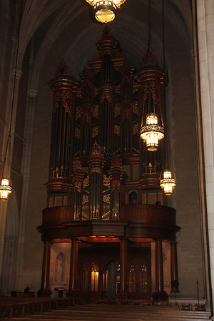 Benjamin N. Duke Memorial Organ inside Duke  University Chapel has 5,033 speaking pipes, controlled by four manual keyboards and pedal -  one of 3 organs in the chapel