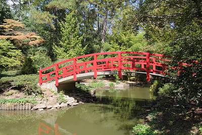 bridge in the Asian portion of Duke Gardens