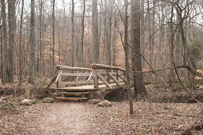 bridge over New Hope Creek at the Triangle Land Conservancy