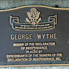 George Wythe Signer of The Declaration of Independence.