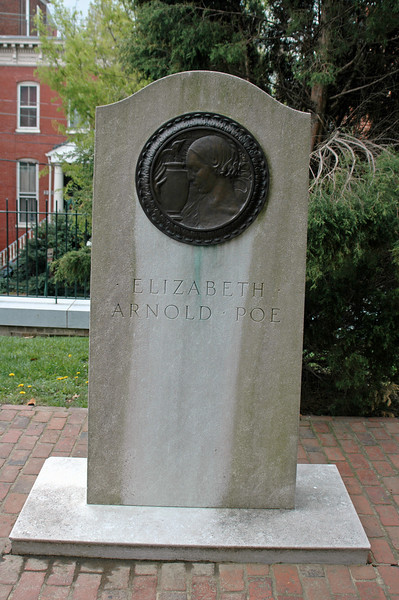 "Elizabeth Arnold Poe, Mother of Edgar Allan Poe. St. John's Church.<br /> Though Edgar was young when she died, Edgar was heavily impacted by Eliz Poe's death and many of his works reflect her influence. He often-used literary theme of dying women. This theme is readily present in works like ""The Raven."""