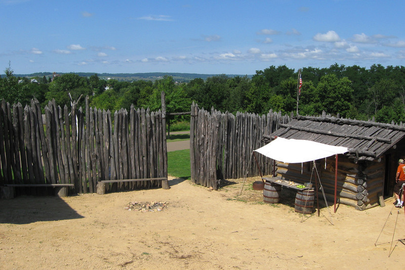 The courtyard of Apple River Fort, such as it is...