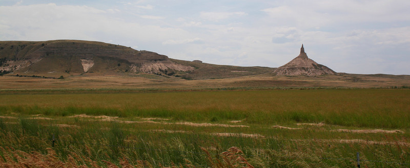 Chimney Rock sits just north of the cliffs that mark the southern edge of the Platte River Valley...