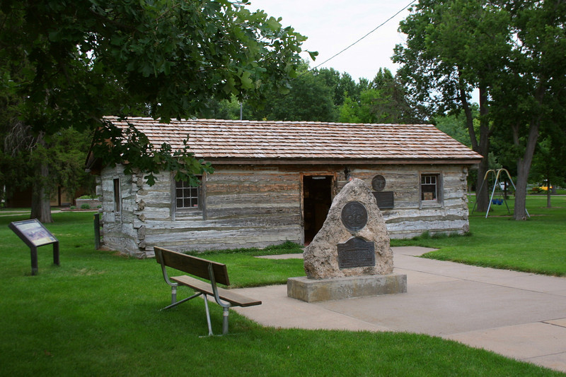 As we continued east we stopped for a couple minutes in Gothenburg, Nebraska for a look at an original Pony Express station...