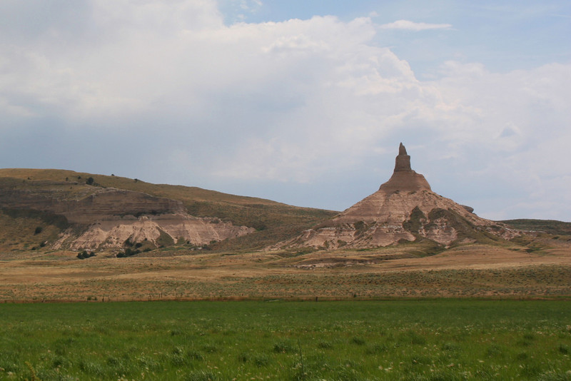 This is as close as you can get to Chimney Rock.  It actually sits on private property and is off-limits to the public...
