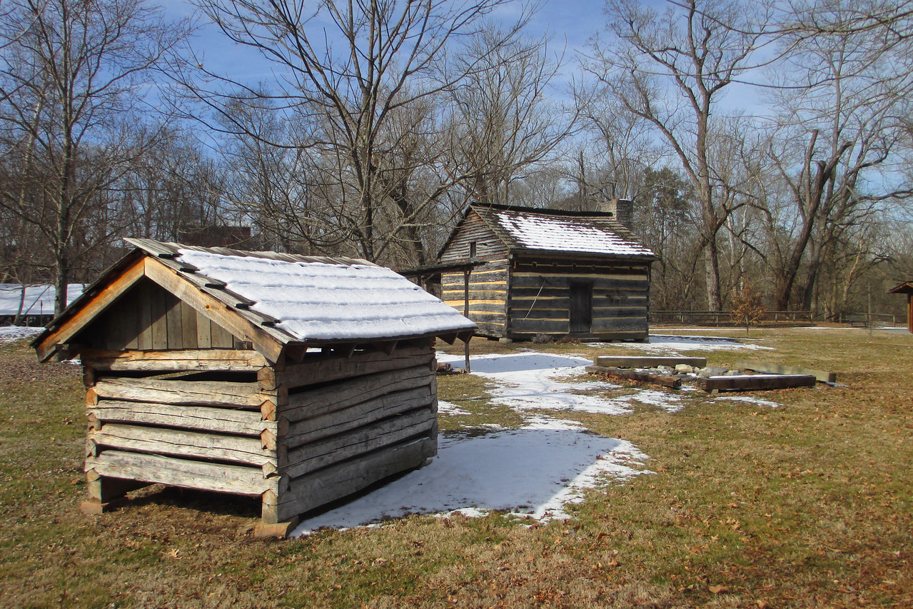 The homestead that has been reconstructed here only represents a 'typical' cabin of the period that Crockett was born in.  It is doubtful that this is the <i>actual</i> structure but it does give a good perspective into the lifestyle of the time...