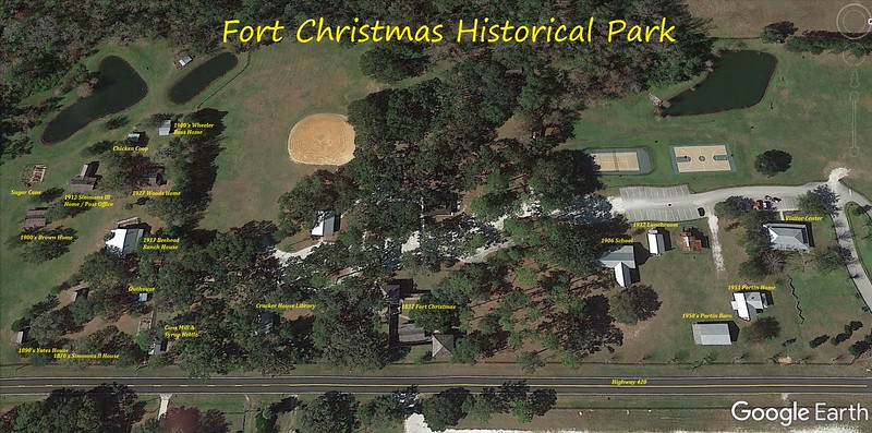 Fort Christmas Historical Park Site Map