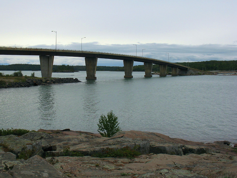 The St. Joseph Island Bridge...