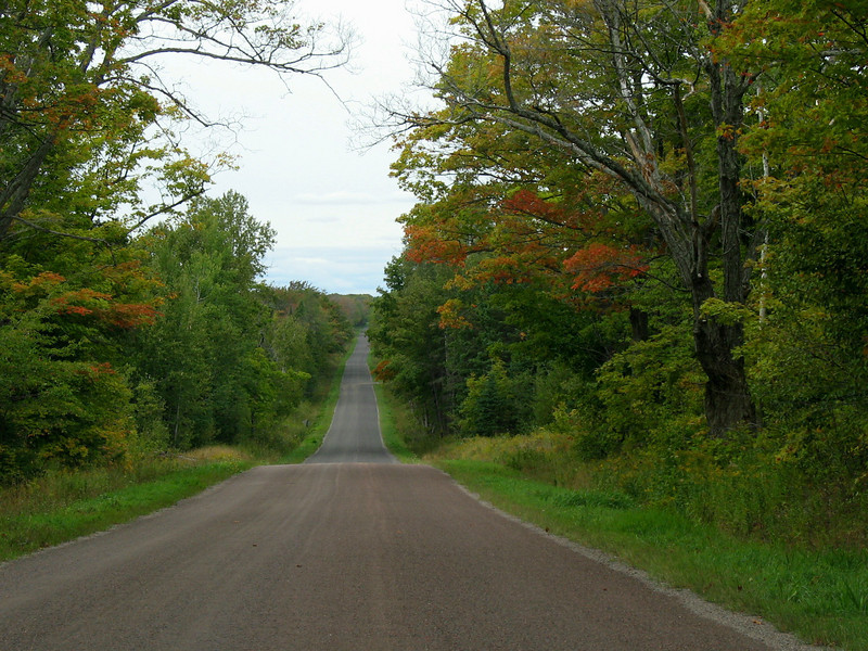 Bits of Color...heading back amongst early fall color on the south side of the island...