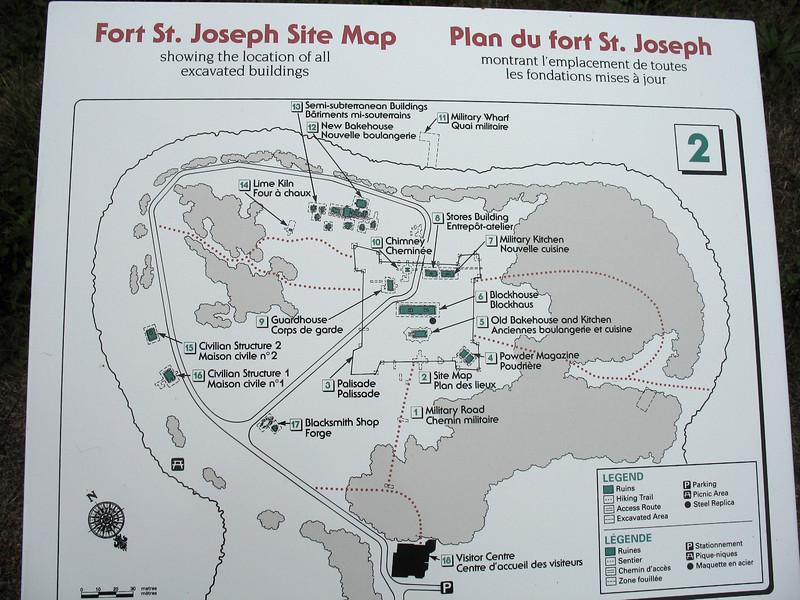 Fort St. Joseph Site Map